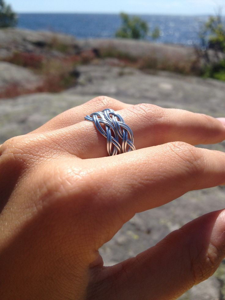 Wire wrapping, Wire ring, jewlery. Ståltråd.