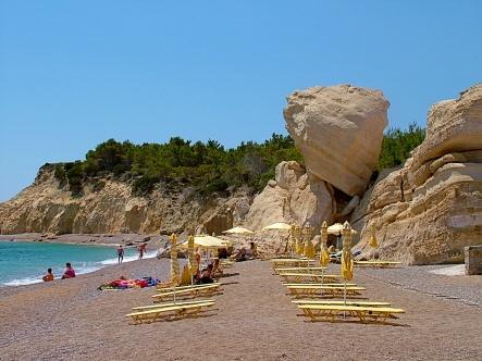 Fourni Beach, Rhodes Island, Greece