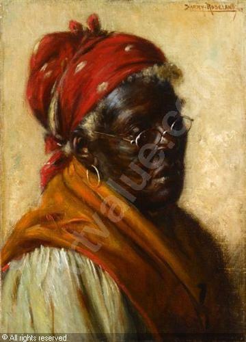 All Of Harry Roseland Painting | ROSELAND Harry Herman,AN ELDERLY AFRICAN AMERICAN LADY,Freeman Fine ...