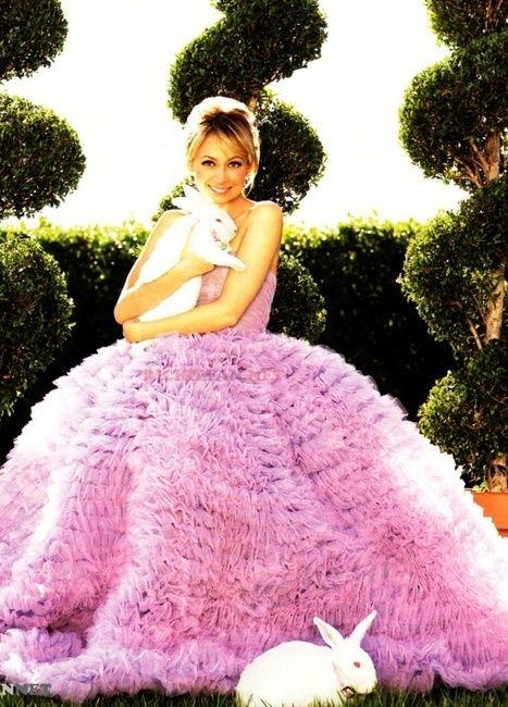 ❦ Nicole Richie in Luisa Beccaria tulle dress