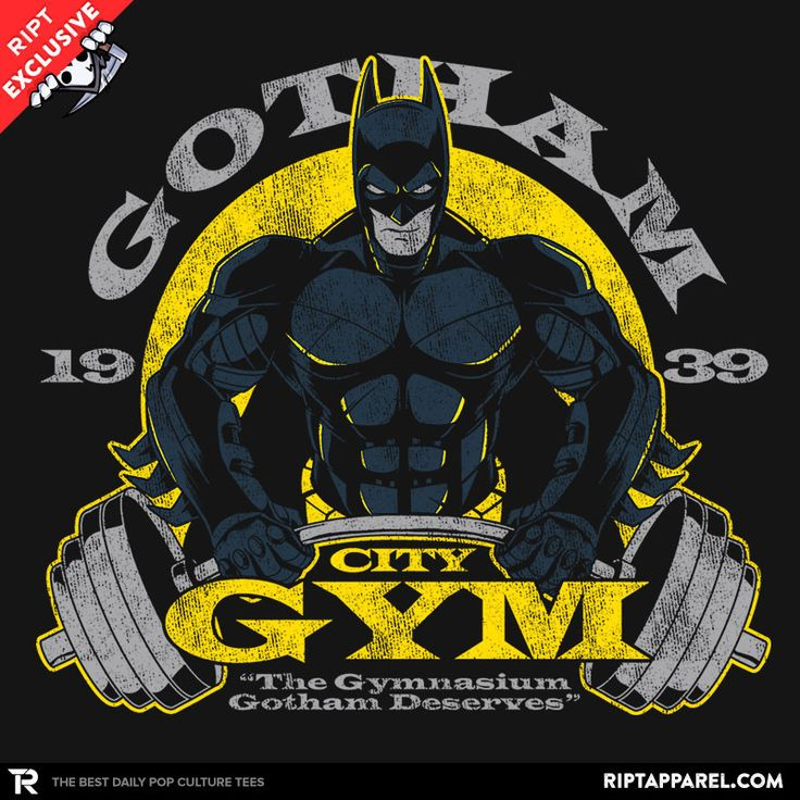 Gotham Gym T-Shirt - Batman T-Shirt is $11 today at Ript!