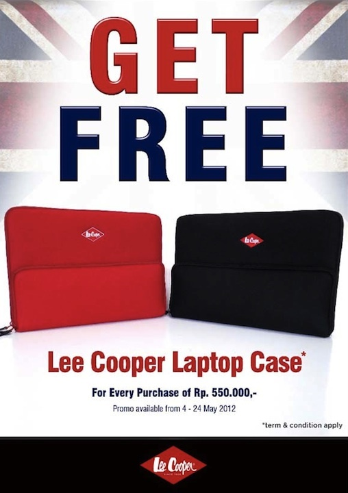 Coming soon: Lee Cooper laptop case for free!
