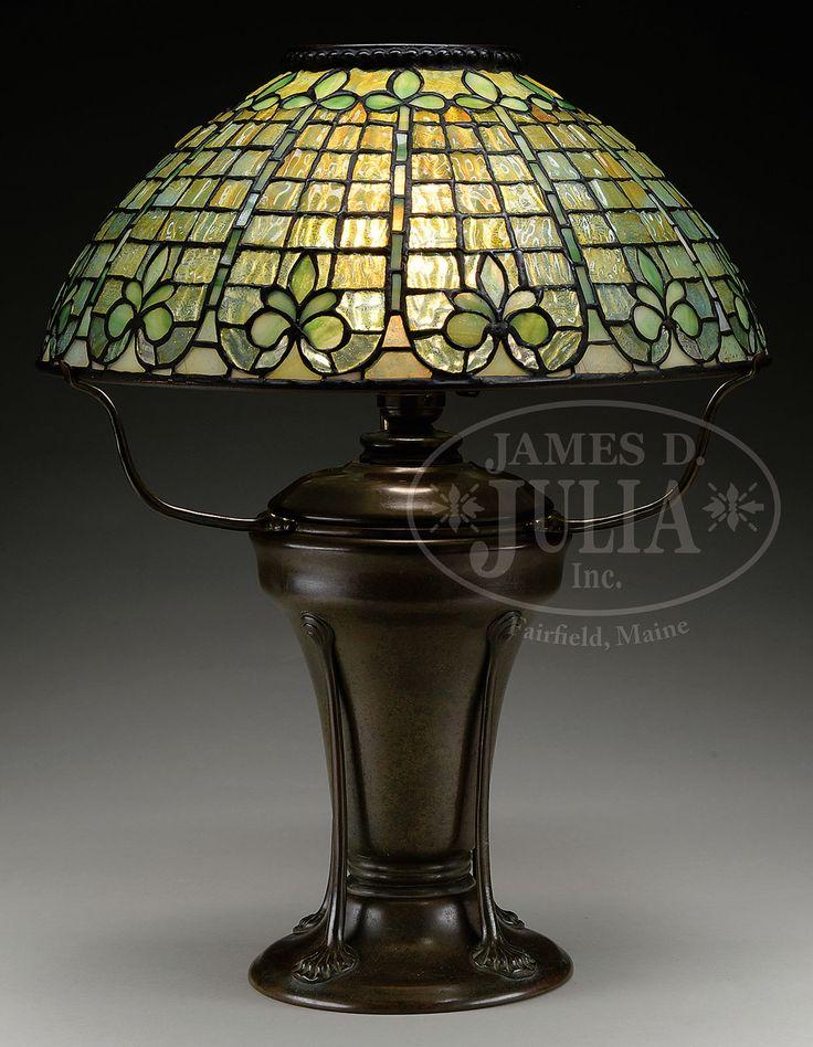 Tiffany Studios Fleur de Lisa Table Lamp.