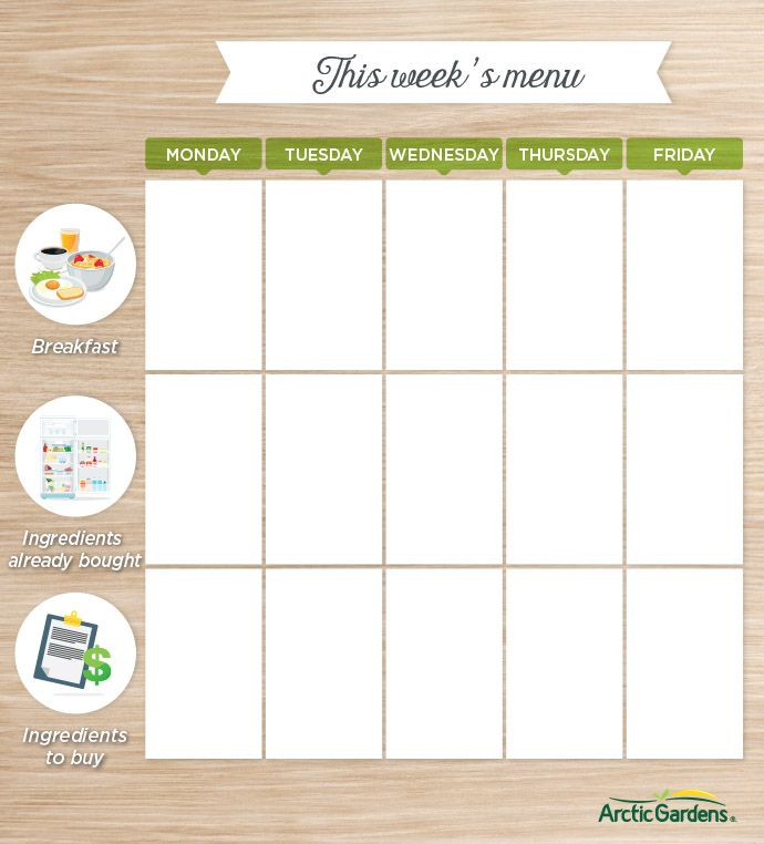 25+ parasta ideaa Pinterestissä Weekly menu template Menu planners - breakfast menu template