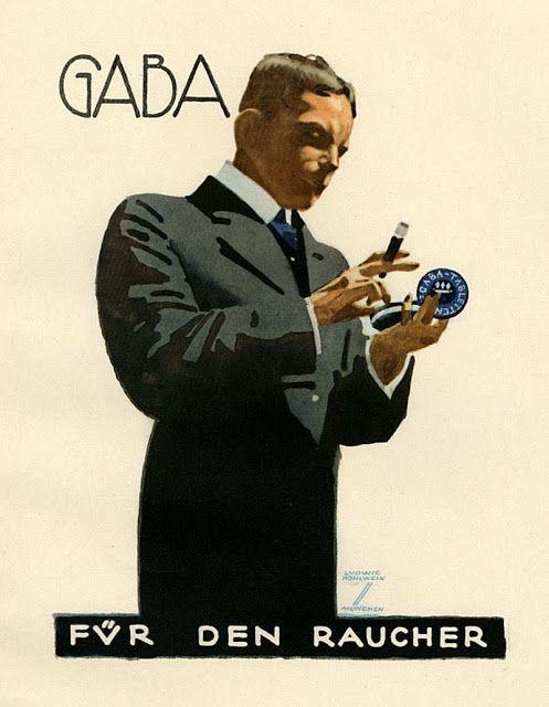 Ludwig Hohlwein / Gaba for Smokers 1926