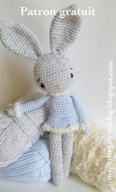 Patron gratuit, Free pattern, lapin, crochet, amigurumi                                                                                                                                                                                 Plus
