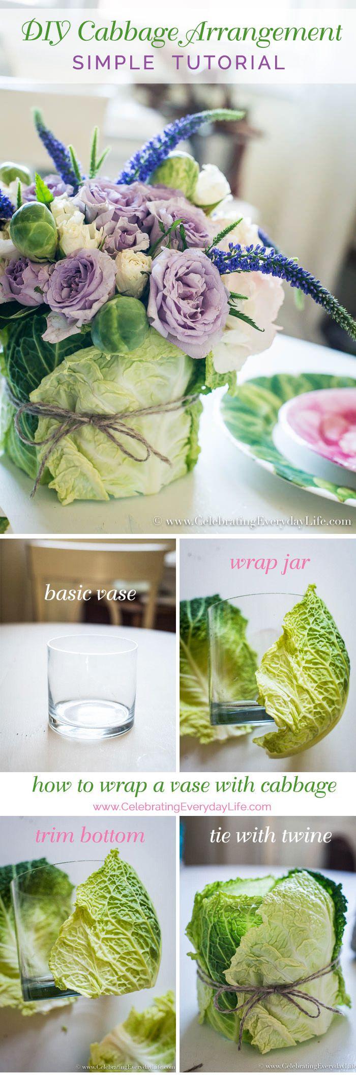 DIY Easter Cabbage Arrangement TutorialJodi Kranzusch-Kenny