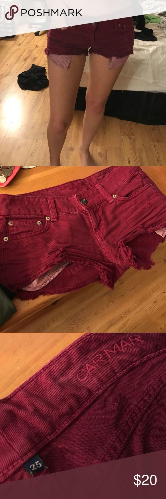 LF CarMar burgundy shorts 25 LF CarMar burgundy shorts 25 LF Shorts Jean Shorts