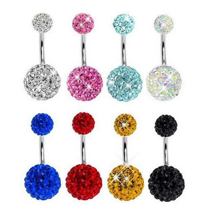 1pcs Barbell Navel Piercing De Umbigo Sexy Belly Button Rings Industrial Belly Piercing Nombril Pircing Ombligo Jewelry