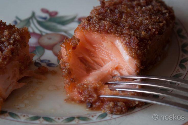 Zalm met Baconkorst en Maple Glaze op een Cederhouten Plank