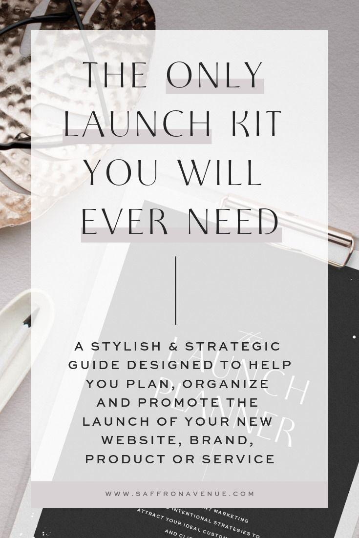 The Launch Kit Planner & Launch Guide | Saffron Avenue Designs