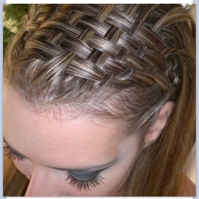 How To Make A Basket Weave Hairstyle : Basket hair in weave
