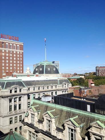 Rooftop view of the Biltmore Hotel in Providence, RI.