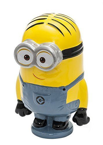 Toy Joy Despicable Me Minion Shaped Money Bank @ niftywarehouse.com #NiftyWarehouse #DespicableMe #Movie #Minions #Movies #Minion #Animated #Kids