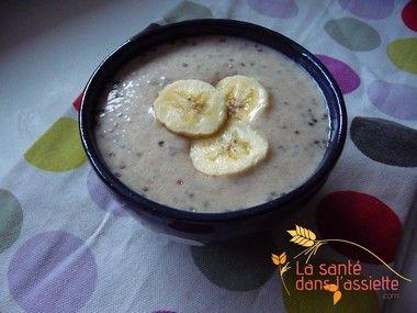 Crème de graines de chia à la banane: recette sans gluten