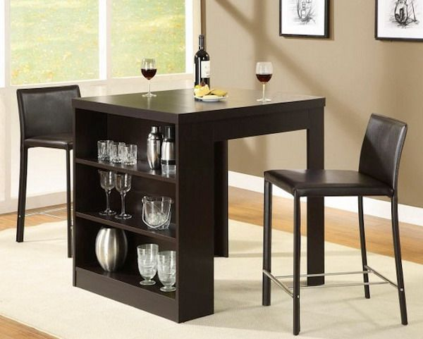 small kitchen table set. Nice that it includes the bar