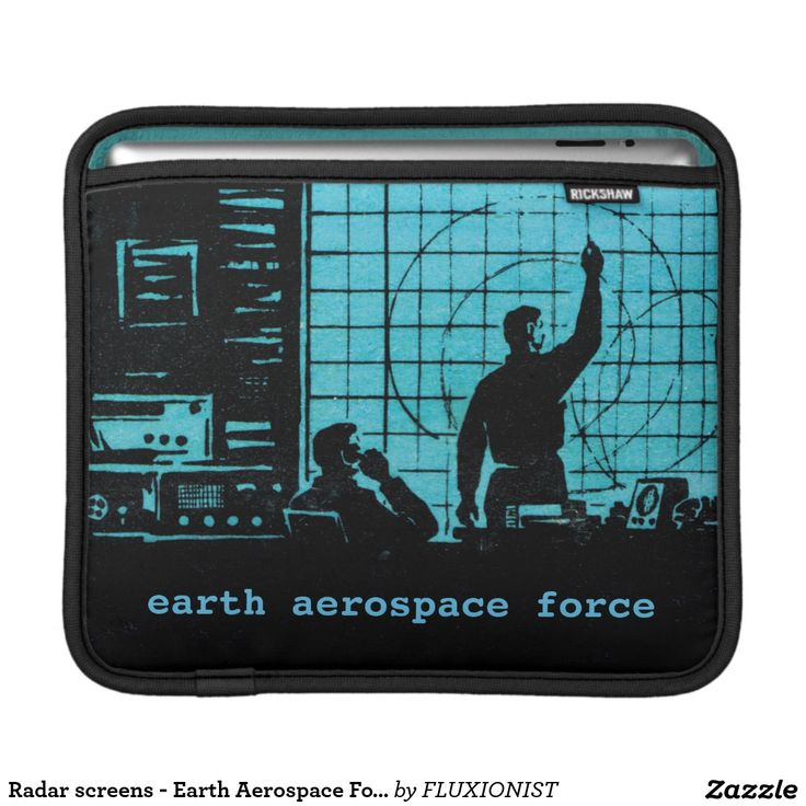 """""""Earth Aerospace Force: Control Room"""" Sleeves For iPads - $47.00 Made by Rickshaw Bagworks / Design by Fluxionist -- Serious computations!"""