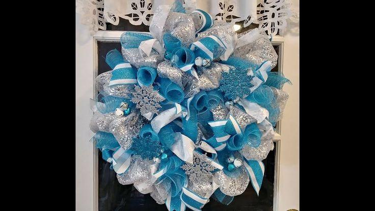 Glitter Blue Winter Mesh Wreath Favorite Projects