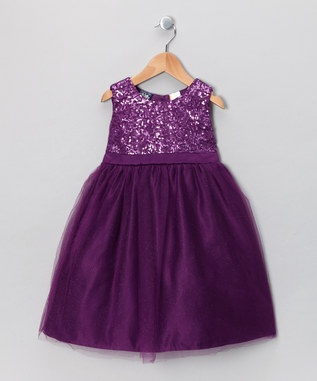 This would be such an adorable flower-girl dress, for the bride who's using a plum, or lilac color scheme for a Fall or Winter wedding. It sure doesn't look like a $25 dress, which it is, at Zulily right now! Another plus to this choice is the little wedding party member can wear this again, perhaps for Christmas, New Years, or just about any other fancy party.