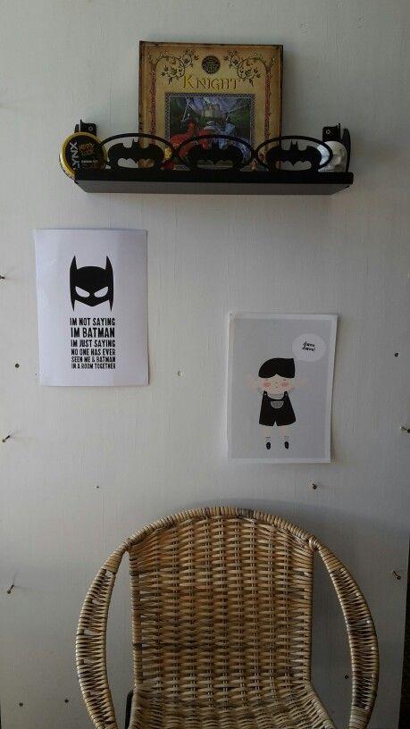 Bat themed shelves