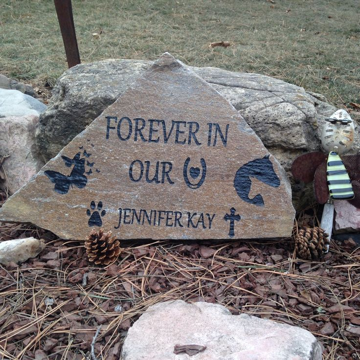 Brianna and Kristin designed this rock as a memorial to Jen.