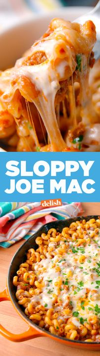 We made this Sloppy Joe Mac extra sloppy for ya. Get the recipe from Delish.com.