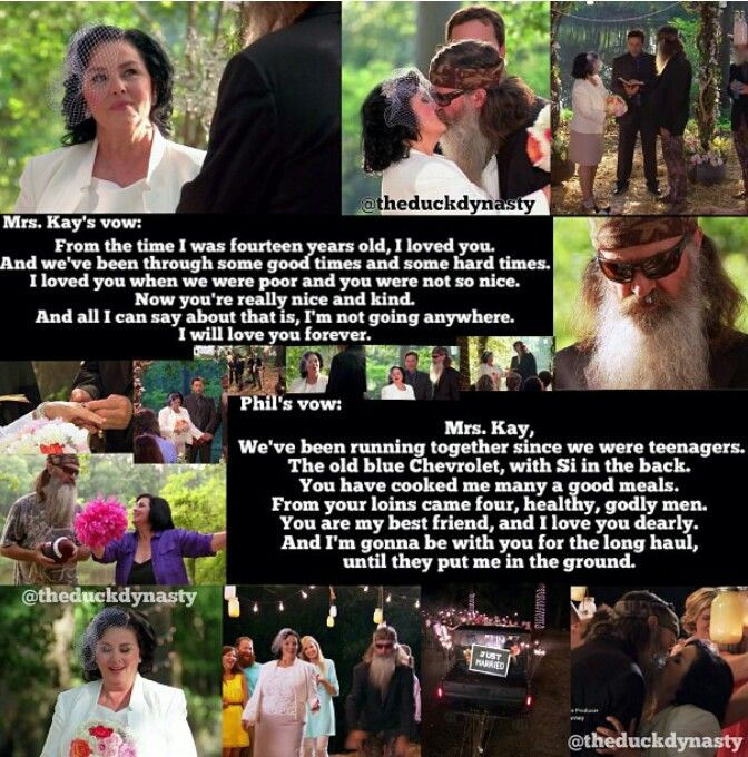 Duck dynasty season four. The vows of phil and kay Robertson