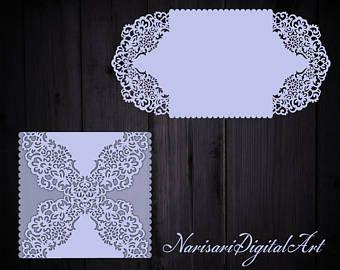 Fichier de coupe florale la modèle de carte Invitation mariage porte rabattable, Invitation Quinceanera, SVG, Silhouette de camée, modèle Cricut