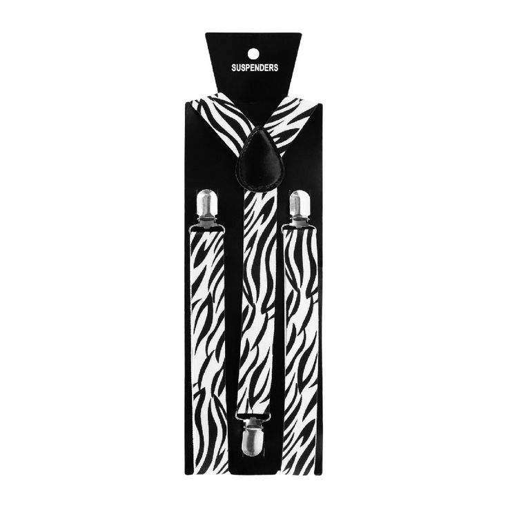 Hosenträger Unisex verstellbar Y -Form - weiß - schwarze Tribals in Bekleidung Accessoire  • Hosenträger