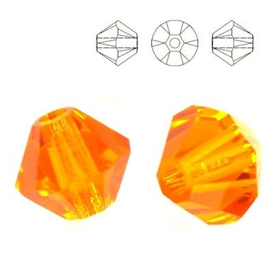 5328 Bicone 6mm Sun 10 pieces  Dimensions: 6,0mm Colour: Sun 1 package = 10 pieces