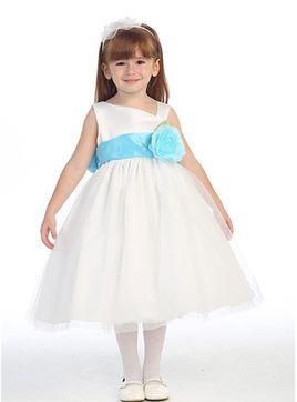 Vestido de primeira comunhão a Princesa Naturais cintura com Laço