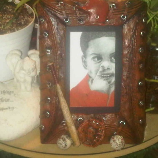 Red Boy 1 framed art.