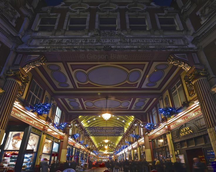Leadenhall Market in the city of London © Gibson