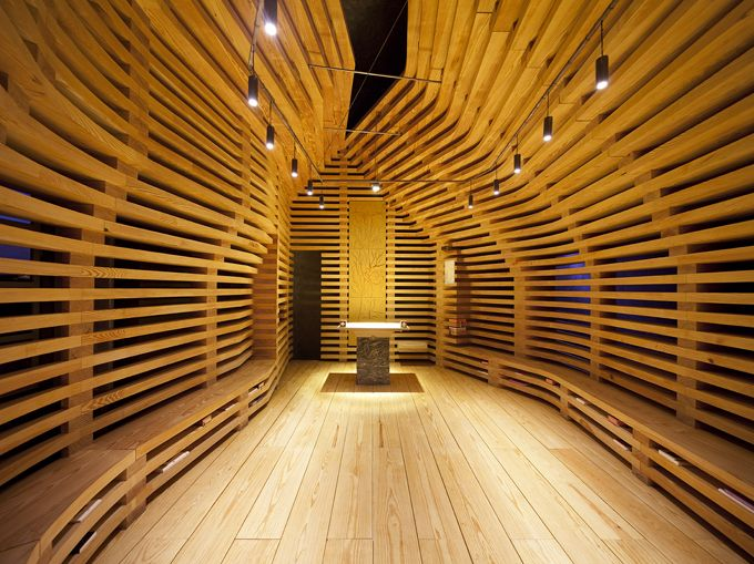 beautiful timber chapel - The Tree of Life Chapen in Portugal