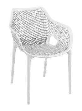 Air XL wit, mooie ruime stapelbare trendy stoel ! Kan ook als lounge stoel.