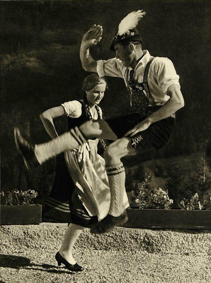 Image of German poeple: Bavarian folk dancers, 1935 by Lothar Rubelt