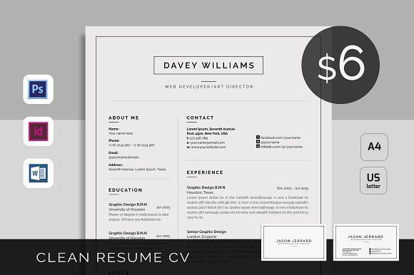 Resume/CV by UX-group on @creativemarket Professional printable resume / cv cover letter template examples creative design and great covers, perfect in modern and stylish corporate business design. Modern, simple, clean, minimal and feminine style. Ready to print us letter and a4 layout inspiration to grab some ideas. In psd, indd, docs, ms word file format. #resume #cv #template #professional #word #modern #creative #design