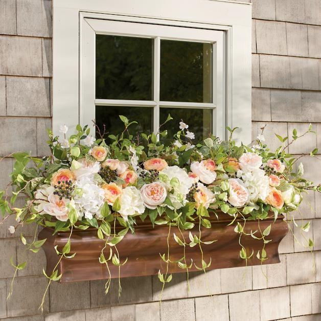 Spring Morning Window Box Filler Window Box Flowers Window Planter Boxes Spring Outdoor Decor