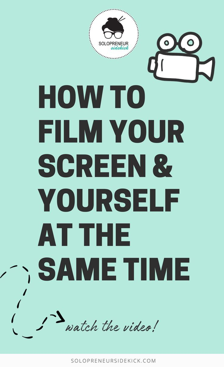 This video shows you how to film your screen and yourself at the same time.  Click to watch!