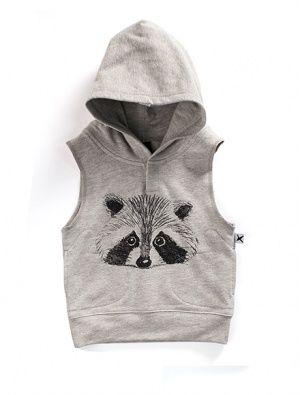 Buy Minti Baby Sleeveless Hood Racoon Grey Marle