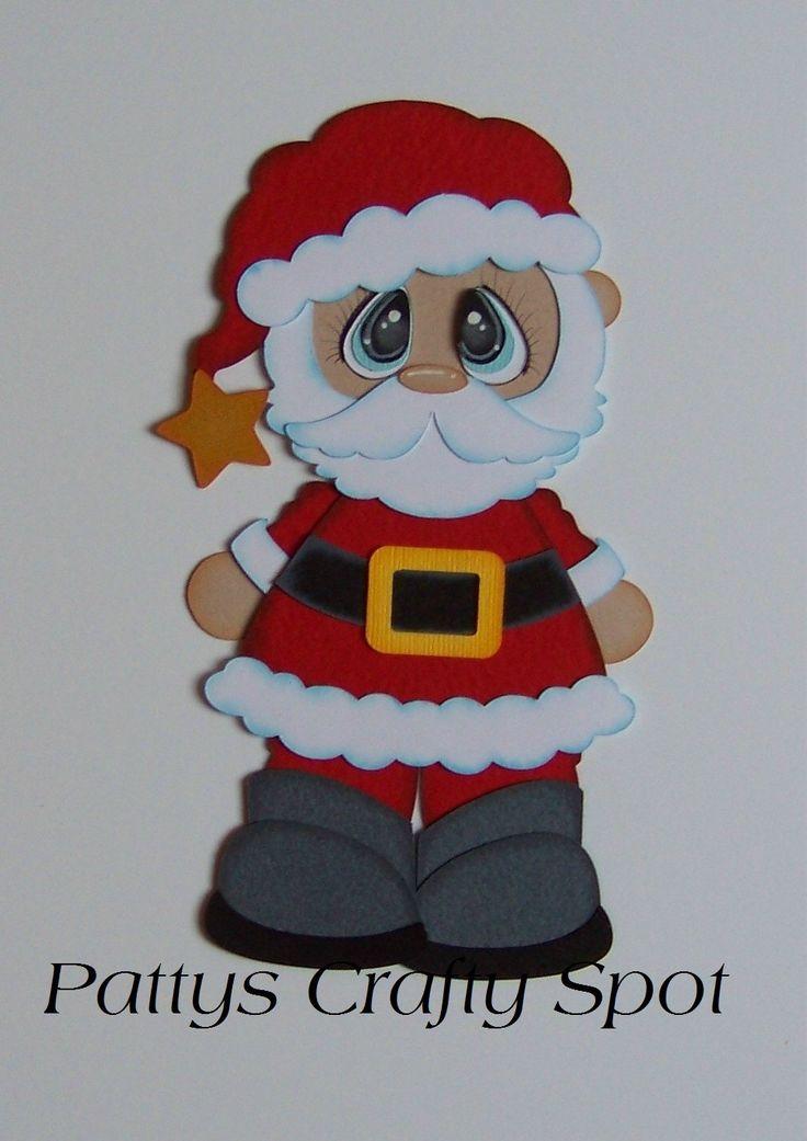 Bobble amigos Santa Navidad papel Piecing por por PattysCraftySpot