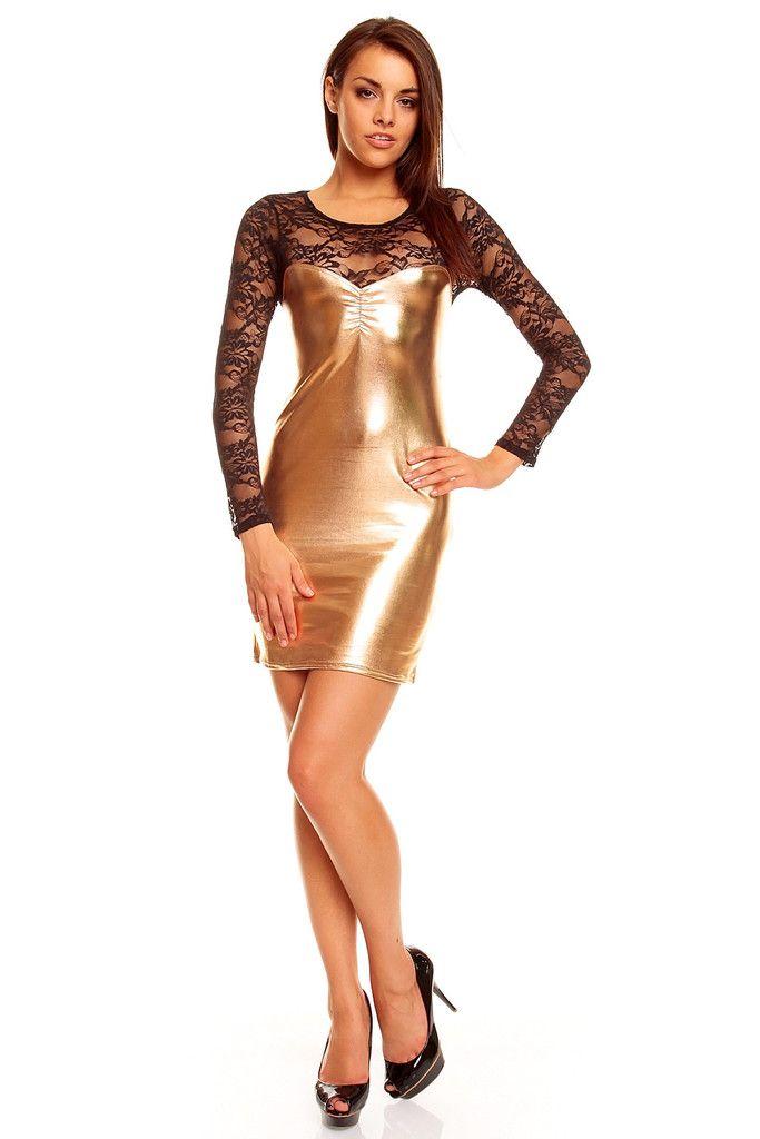 Glede , kjole gull tone