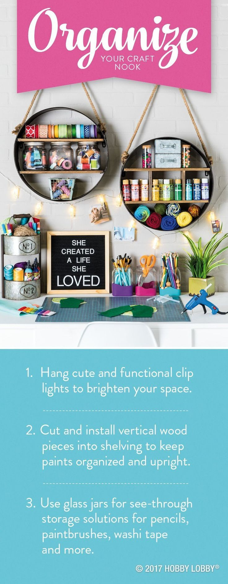Create a life you love with a craft space that inspires!