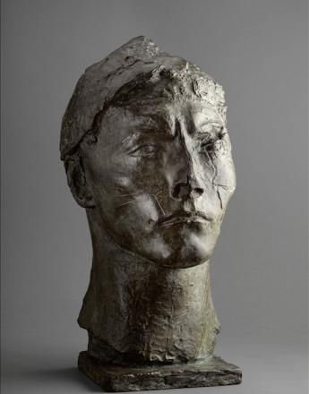 """Antoine Bourdelle, """"Apollon, masque avec cou"""", Paris, musée Bourdelle."""