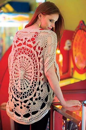 Ravelry: Wonder Wheel Top pattern by Jenny King | Interweave Crochet, Summer 2014 #crochet #sweater #lace