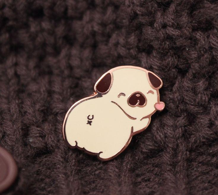 Pug Butt Enamel Pin by Cafe de Yumi