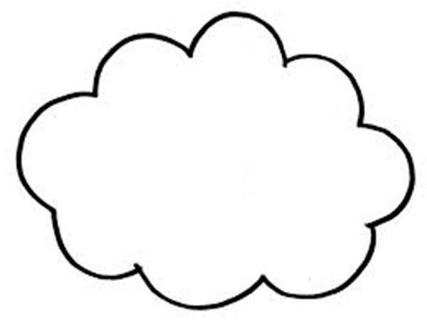 Cloud Outline Printable. cartoon oval discuss speech