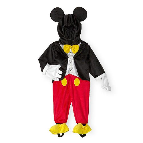 Introduce your little character to a few of ours. This Mickey Mouse costume is sure to make your little mouseketeer happy at Halloween. With a hood that features Mickey's ears, gloves, and even a bow tie, he'll be set for trick or treating or just looking adorable.