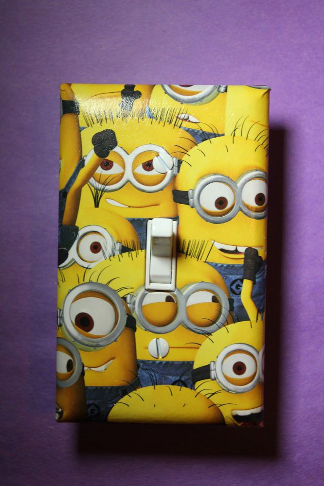Despicable Me Minions Light Switch Cover kids child boys girls room home decor