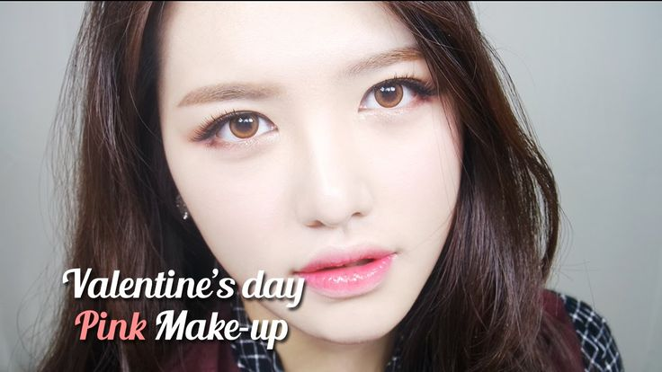 valentine's day makeup for girls who want a pretty and sweet image